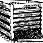 Разборный ящик для хранения компоста.