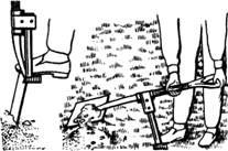 Лопата с рычаговым приспособлением
